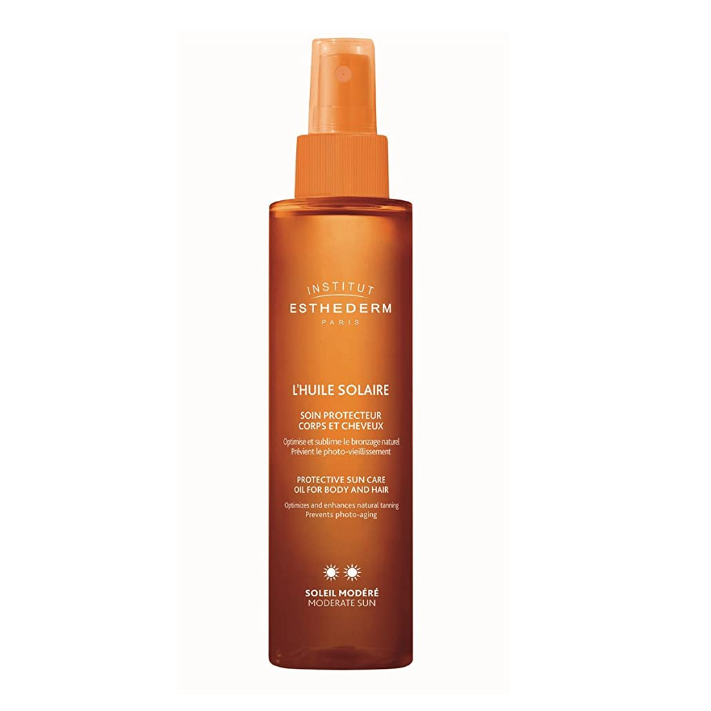 ペルー電子レンジ株式会社Institut Esthederm Protective Sun Care Oil For Body And Hair Moderate Sun 150ml [並行輸入品]