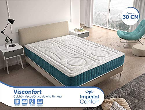 Imperial Confort VisConfort - Colchón Viscoelástico efecto memoria - Transpirable y doble cara (invierno/verano) - Grosor 30 cm -150x190