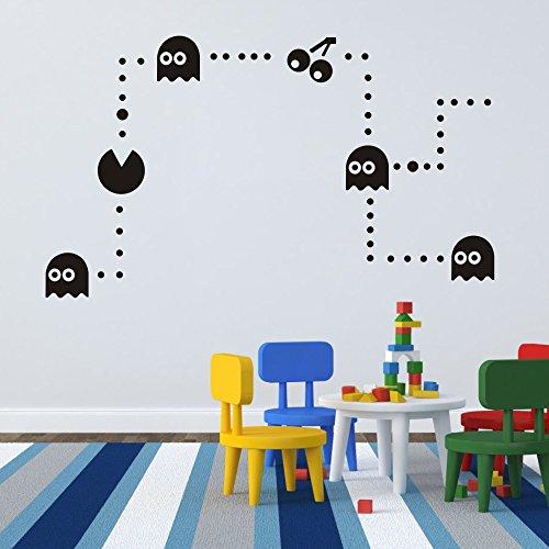mairgwall Baby Decor Pac-Man Aufkleber Spiel Art Stciker Spielzimmer Wand Grafiken, Vinyl, Custom, 34