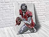TopShelfPrints Michael Vick Atlanta Falcons Poster/Canvas Print - Football Artwork - Kids Room Wall Decor - Man Cave - Sports Decor - Birthday Gift Idea (Premium Canvas, 24 x 36 Inches)