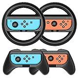 HEYSTOP Volantes y Grip Switch Joy-con para Nintendo Switch, Switch Joy-con Racing Wheel Volante,...