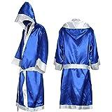Yeshai3369 - Albornoz de Boxeo con Capucha para Hombre, MMA, Boxeo, Muay Thai, Color Sapphire Blue XXL, tamaño Talla única