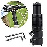DESON Fahrrad Gabelschaft Extender Lenkererhöhung Gabelschaftverlängerung Vorbau Verstellbar Höhen Adapter mit 2 Kleinen Inbusschlüssel für Fahrrad Mountainbike