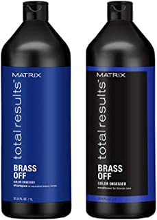 Matrix Total Results Brass Off Shampoo & Conditioner Value Hair Pack 1 (Litre)