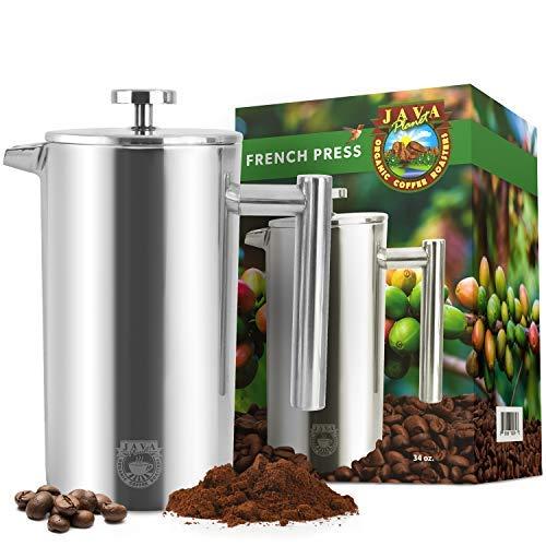 Java Planet – Französische Kaffeemaschine aus Edelstahl – isoliert und langlebig – 963 ml Kapazität – für heiße oder kalte Brauen