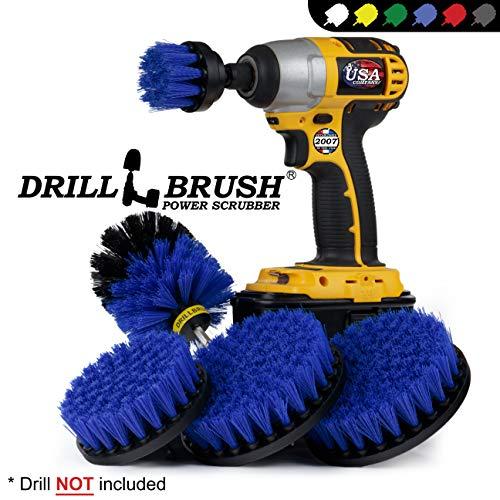 Boat Accessories - Cleaning Supplies - Drill Brush - Boat - Kayak - Canoe - Hull Cleaner - Algae - Barnacles - Carpet Cleaner - Deck Brush - Glasvezel - Aluminium - Spin Brush - Vinyl - Upholstery