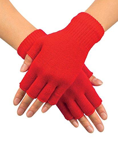 Boland 01902Handschuhe Fingerless, Rot, Einheitsgröße