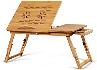 Rubik Wooden Laptop Table with Two USB Cooling Fan and Side Drawer Foldable Adjustable Portable