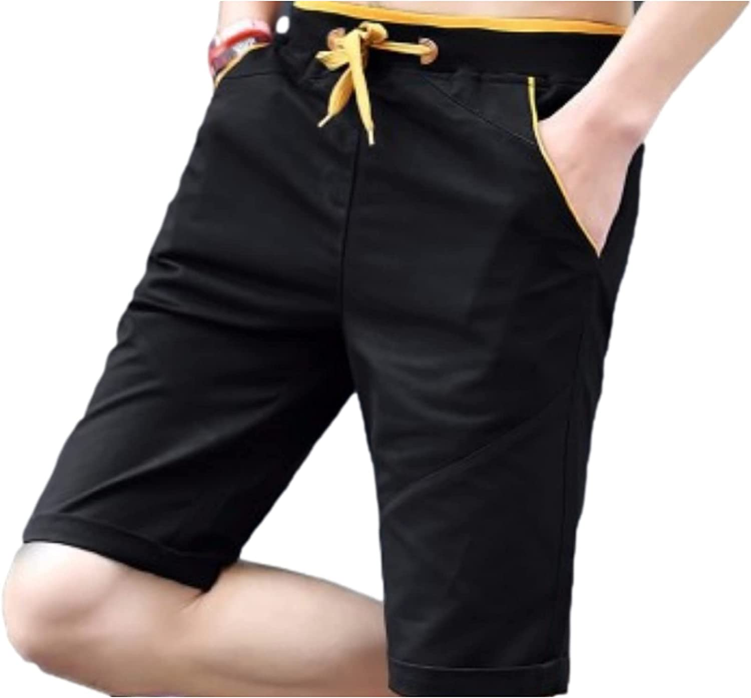 Segindy Fashionable New Shipping Free Men's Loose Fit Shorts Drawst Summer Leisure Comfortable