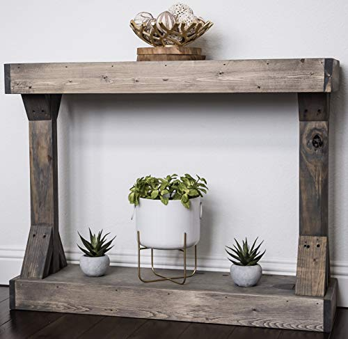 Barb Small Console Table Solid Wood by Del Hutson Designs (Grey)