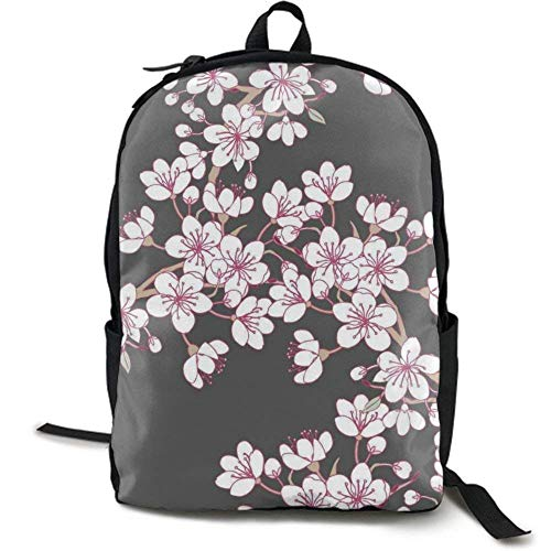 XCNGG Mochila de impresión de fotograma Completo para Adultos Mochila Informal Mochila Mochila Escolar NiYoung Backpacks Cherry Blossom School Bag Travel Daypack Shoulder Bag