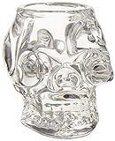 Diamond Star Glass 68053 5.5 Inch Skull Candleholder Clear