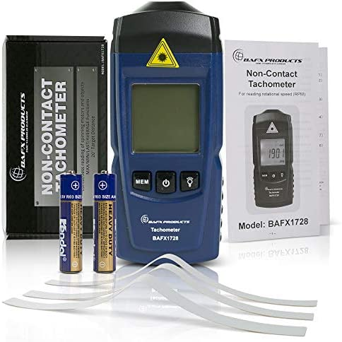 BAFX Products Handheld Infrared Light Non Contact Digital RPM Tachometer Meter to Measure Rotational product image