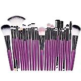 Conveniente 25pcs / Set Powder Foundation Blush Mezcla de Ojos Pinceles para Maquillaje de Ojos Herramientas de Maquillaje de Ojos cosméticos Durable (Handle Color : 01)