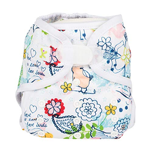 Kidzencia Cloth Diaper Cover, Double Gusset, Premium One Free Size Adjustable Washable , Reusable For Baby Boys & Girls Velcro Without Insert (0-2) (Green)