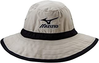 Mizuno Large Brim Sun Hat Chalk/Black, Small/Medium