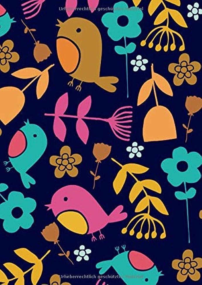 結婚憂鬱ボンドNotizbuch A4 liniert Vintage Softcover mit Tulpen, Rosen & Blumen - 150 Blatt Notizblock, Kladde, Schmierheft fuer persoenliche Aufzeichnungen