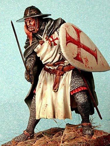 XINGCHANG 1/24 75Mm Ancient Templar in Armor 75Mm Resin Figure Model Kits Miniature Gk Unassembly Unpainted