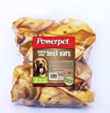 Powerpet Natural Cow Ears for Dogs (25 Pack) (Smoked Beef)