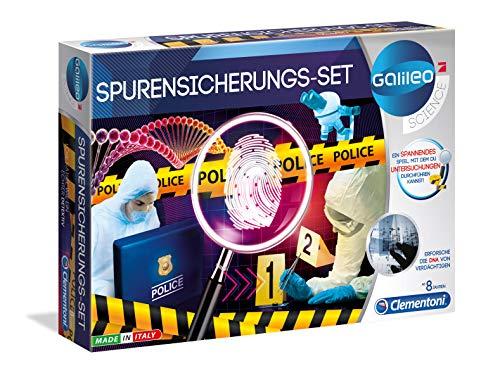 Clementoni 59125 Galileo Science – Spurensicherungs-Set, spannendes Kriminal-Labor für Fingerabdrücke & DNA-Untersuchungen, Spielzeug für Kinder ab 8 Jahren, für kleine Forensiker