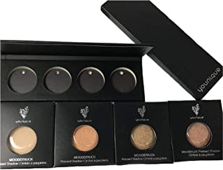 Younique Moodstruck Quad Compact 4 Assorted Shadow Refills- IVORY SATIN, METALLIC GOLDEN COPPER, METALLIC BRONZE, METALLIC PEACH NUDE