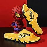 XFBH 2 pares de zapatillas de verano con letras de llama, sandalias y zapatillas para mujer, hombres, hogar, antideslizantes, tallas 36 a 45 (tamaño: 38 a 39, color: amarillo)