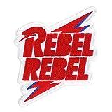 C&D Visionary David Bowie Rebel Bolt Patch, Multi Color