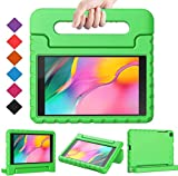 Golden Sheeps Kid Friendly Case Compatible for LG G Pad 5 10.1 inch 2019 T600 T605 Shockproof Ultra Light Weight Convertible Handle Stand Cover (Green)