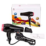 Xlinder Professional Hair Dryer 1875W Negative Ion Hair Blow Dryer with 2 Speed and 3 Heat Setting Cool Botton Ceramic Dryer, Black