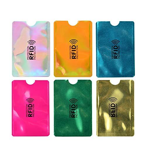 【10枚セット】 スキミング防止 防磁カードケース 磁気防止 カードカバー カードケース 薄型 防水 データ保護10枚 (マルチカラー ランダムカラー)