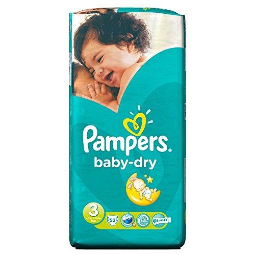 Pampers Baby Dry Misura 3 Midi 4-9Kg (52) (Confezione da 6)