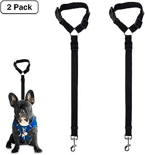 Dog Seat Belt, 2 Pack Safety Strap Car Headrest Restraint Adjustable Nylon Fabric Dog Restraints Vehicle Seatbelts Harness in Vehicle Travel Daily Use