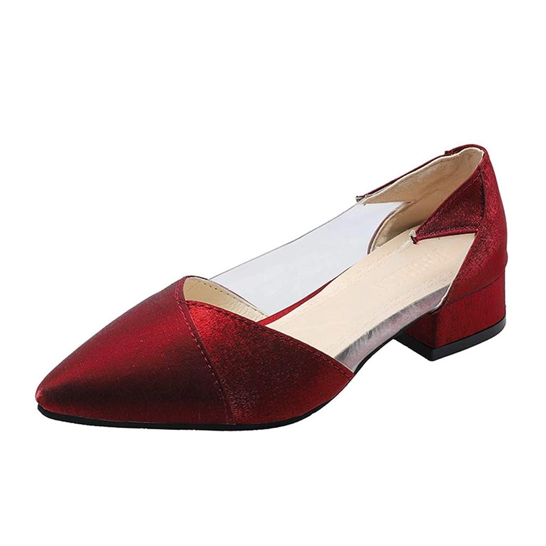 示す喪ブリーク[DOUERY LTD] パンプス ローヒール 女性 痛くない 走れる ぺたんこ パーティ フォーマル 靴 3cm 24.0cm 24.5cm マタニティフラット フラット 大きいサイズ あかいろ 結婚式 入学式 発表会