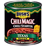 BUSH'S BEST Canned Texas Recipe Chili Magic Chili Beans Starter (Pack of 12), Source of Plant Based...