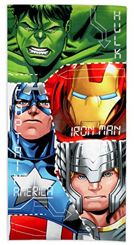 Marvel Avengers - Toalla de Microfibra para baño Infantil (