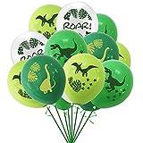 AngYou Dinosaurio de 12 Pulgadas Tema Latex Globo Combo Set Decoración de la Fiesta de cumpleaños (Style : 16pcs)