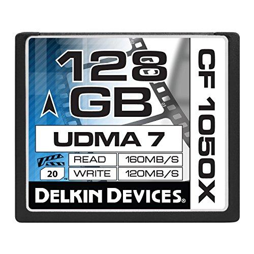 Delkin 128GB CF 1050X UDMA 7 Cinema Speicherkarte (DDCF1050-128GB)