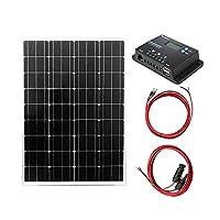 100W ソーラー発電蓄電ケーブルセット