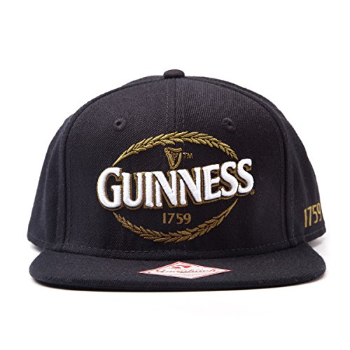 NEW! Guinness Snapback Baseball Cap With Embroidered Logo Black SB0DGSGNS