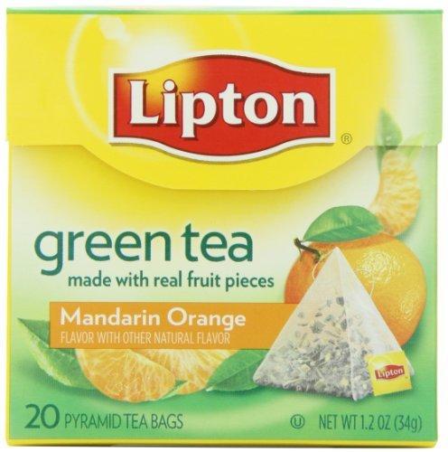 Lipton Green Tea, mandarine, Premium Pyramid Thé, 20 pièces, jardin, pelouse, Entretien