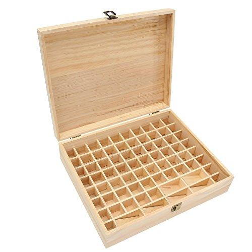 Caja almacenaje madera aceites esenciales