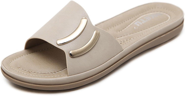 JiYe Women's Fashion Flat Sandals Thong Casual Beach shoes