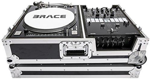 Magma mga40985 Scratch koffer Road Case voor platenspeler & 25,4 cm DJ Mixer