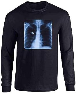 Seuriamin Thin Blue Line Heart Mens Fashion Hiking Short Sleeve T-Shirt