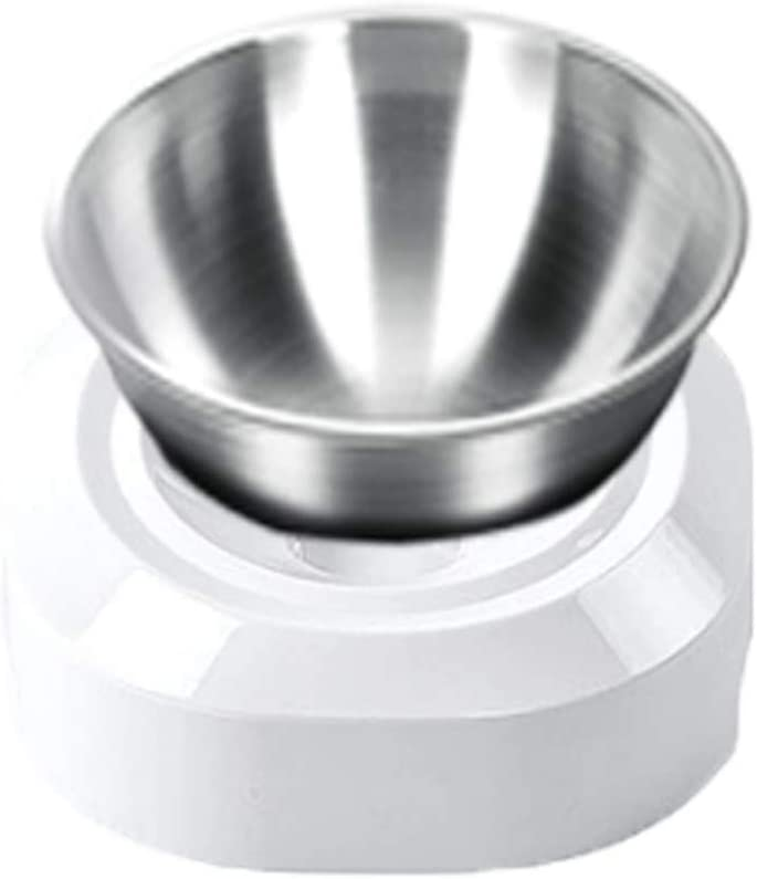 Elevated Cat Bowls with Stainless Steel Rai 15° low-pricing Tilted Free shipping anywhere in the nation