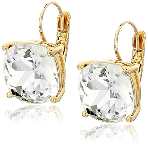 kate spade new york Kate Spade Earrings Small Square Clear Leverback...
