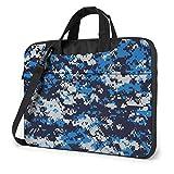 Bolsa de hombro para portátil de camuflaje azul bolsa de ordenador portátil bolsa de hombro Messenger maletín 13/14/15.6 pulgadas