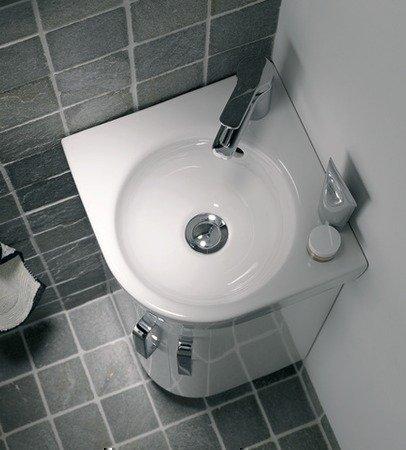 Keramag Renova Nr. 1 Comprimo NEU Eck-Handwaschbecken, Schenkellänge 32 cm weiß