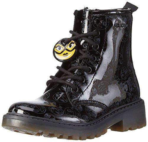 Geox Mädchen J Casey Girl K Combat Boots, Schwarz (BLACKC9999), 33 EU
