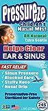 Pressureze Nasal Mist for Kids - 34 ml (245 Sprays) Fast, Natural Relief from Sinus Congestion, Sinus Headache, Stuffy Nose, Blocked Ears, Ear Pressure, Nasal Drip, Dry Sinus